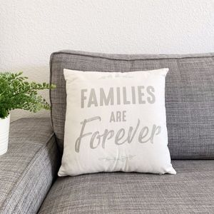 Other - FAMILIES ARE FOREVER THROW PILLOW ACCENT PILLOW